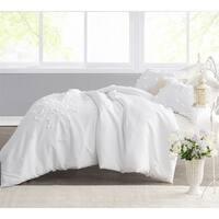 Petals Handsewn Duvet Cover - White