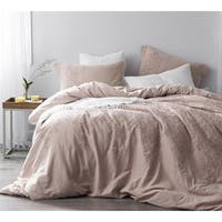 Baroque Stitch Duvet Cover - Ice Pink/Fawn Embroidery