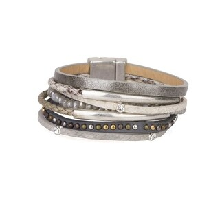 Handmade Saachi Madrid Wrap Bracelet (China) - grey, brown
