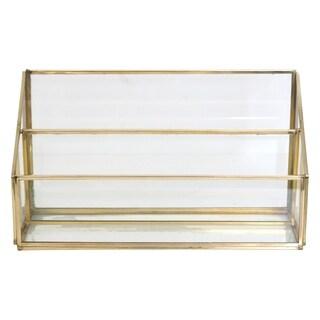 Renwil Domino Glass letter holder