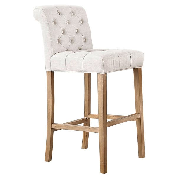 Prime Shop Carlisle Bar Height Button Tufted Solid Wood Bar Stools Creativecarmelina Interior Chair Design Creativecarmelinacom