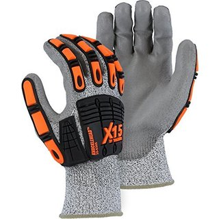 Majestic 35-5305 Cut Resistant X15 Impact Poly Coated Gloves 1 Pair
