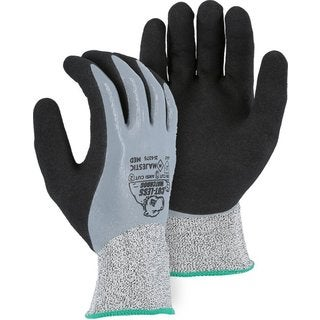 Majestic 35-6375 Cut Resistant Sandy Nitrile Coated Gloves 1 Pair