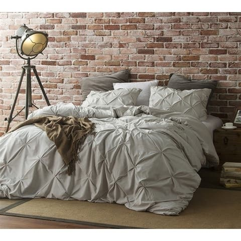 Silver Birch Pin Tuck Duvet Cover