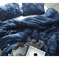 Nightfall Navy Pin Tuck Duvet Cover