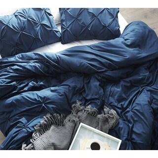 Nightfall Navy Pin Tuck Duvet Cover
