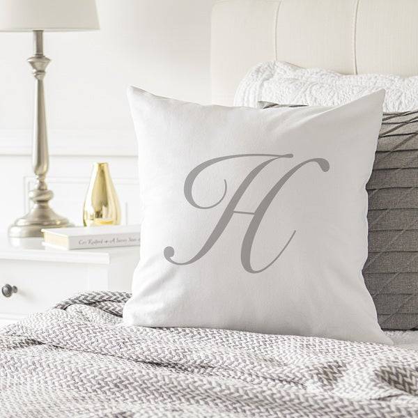 "Personalized Script Initial 16"" Throw Pillow"