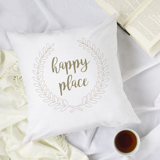 "Happy Place 16"" Throw Pillow"
