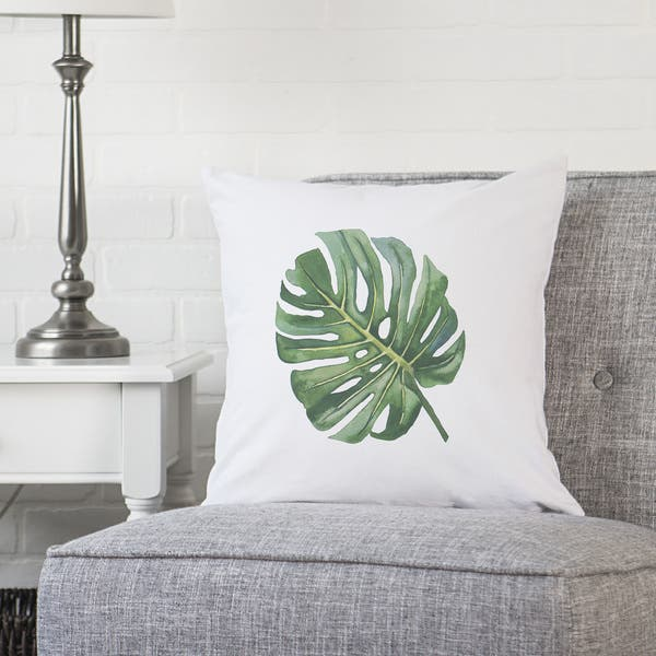 Incredible Shop Palm Leaf 16 Throw Pillow Free Shipping On Orders Ocoug Best Dining Table And Chair Ideas Images Ocougorg