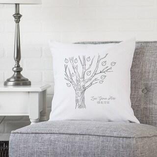 """Family Tree 16"""" Throw Pillow"""