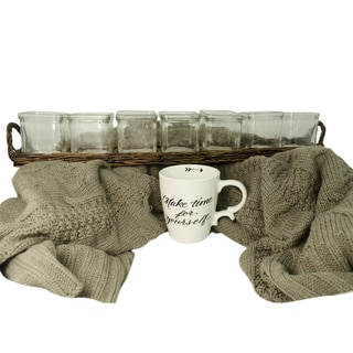 TAG Get Cozy Throw, Tea Light Candles & Mug Set, 3 piece