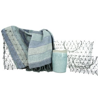 TAG Home Décor Basket with Throw & Vase Set, 3 piece