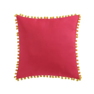 Laura Hart Kids Pom Pom 18 Inch Decorative Throw Pillow