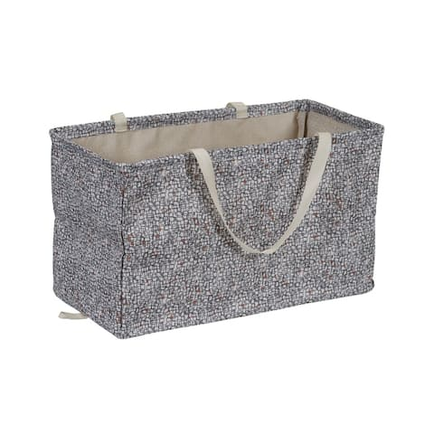 KRUSH CONTAINER Rectangle Tote Bag, Geometric - 22'' x 11'' x 13''