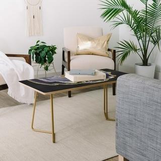 Emanuela Carratoni Black and Gold Agate Coffee Table