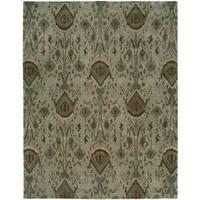 Hand-Tufted Heirloom Spa Blue Wool Rug (5' x 8')