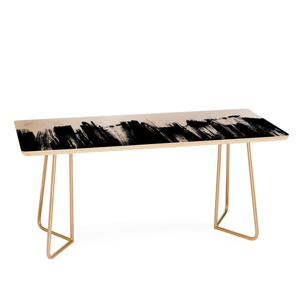 Kelly Haines Monochrome Brushstrokes Coffee Table