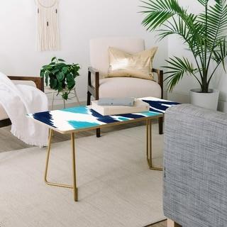 Deny Designs Malibu Blue Ikat Coffee Table (2 leg options)