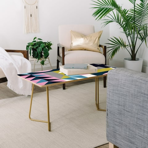 Deny Designs Modern Triangles Coffee Table (2 leg options)