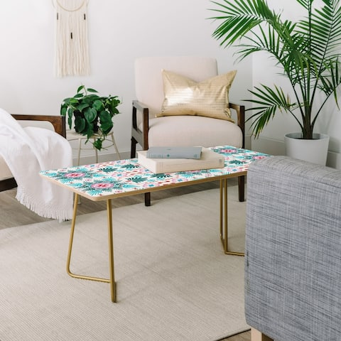Deny Designs Spring Flourish Coffee Table (2 leg options)