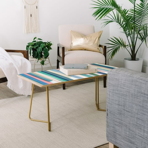 Deny Designs Pastel Stripes Coffee Table (2 leg options)