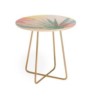 Emanuela Carratoni Geometric Palm Round Side Table