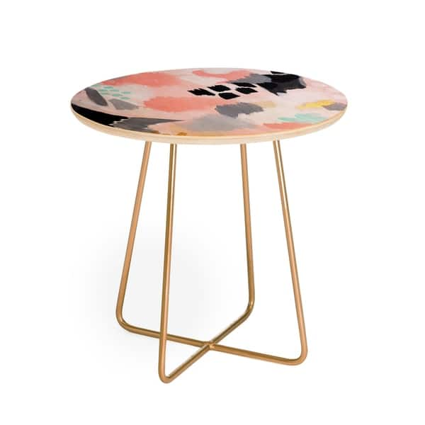 Marvelous Laura Fedorowicz Serenity Abstract Round Side Table Home Interior And Landscaping Pimpapssignezvosmurscom