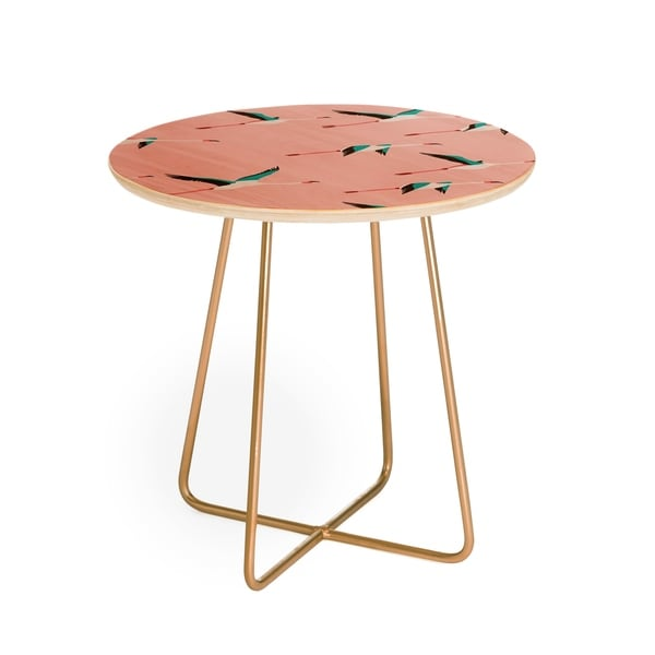 Holli Zollinger Flamingo Pink Round Side Table