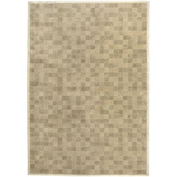 """Galleria Beige Cream Geometric Squares Area Rug - 5'3"""" x 7'7"""""""