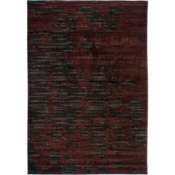 "Galleria Red & Black Abstract Area Rug (7'10"" x 10'10"")"