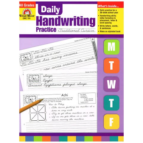 Daily Handwriting Practice Book: Traditional Cursive