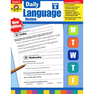 Daily Language Review Teachers Edition, Grade 6