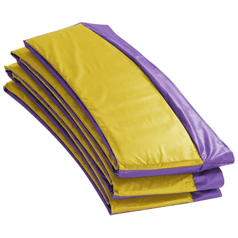 Super Trampoline Replacement Safety Pad (Spring Cover) Fits for 9 FT. Round Frames - Purple/Yellow - Purple