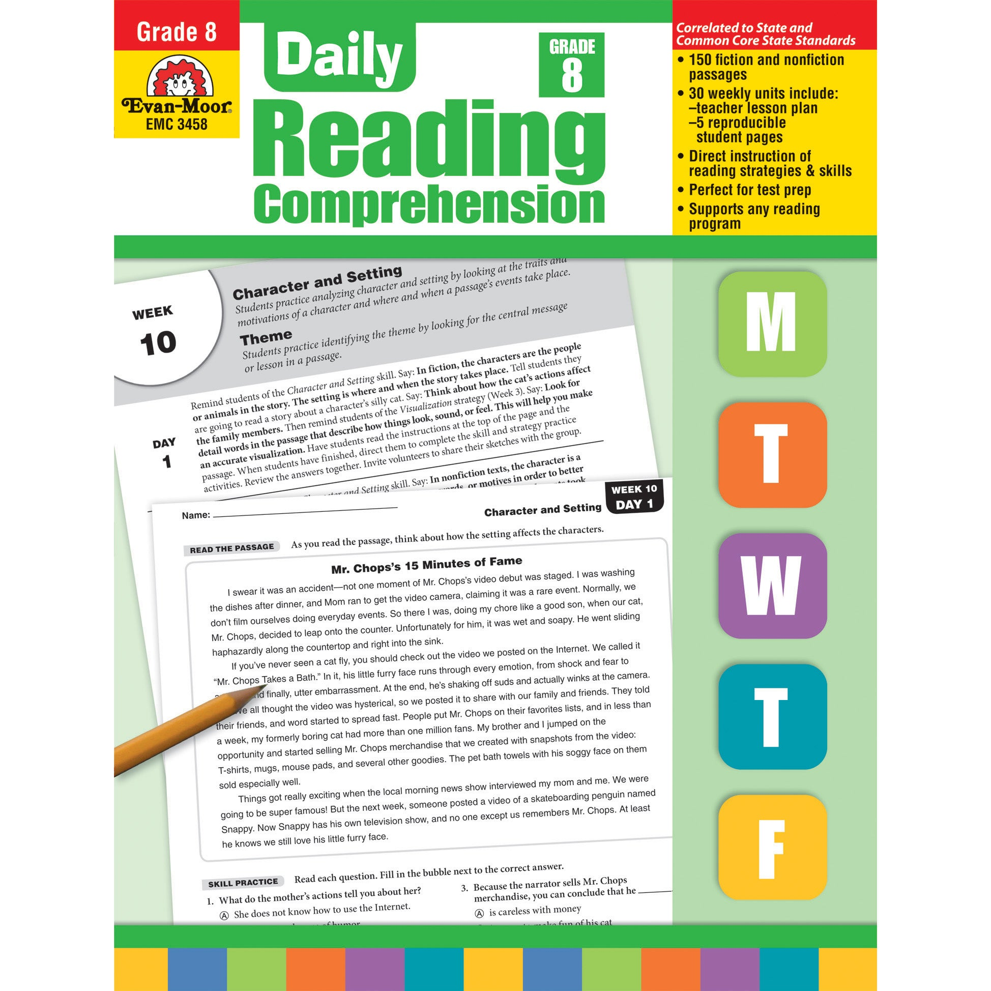 - Shop Daily Reading Comprehension, Grade 8 - Overstock - 17415297