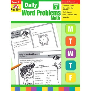 Daily Word Problems Book, Grade 2