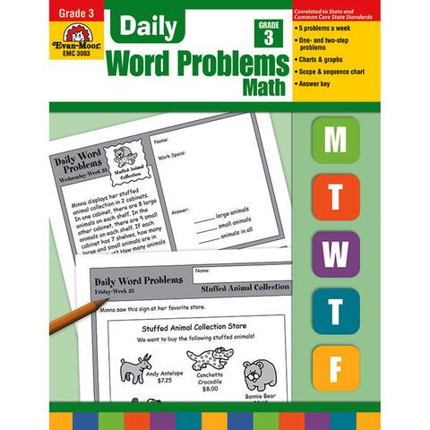 Daily Word Problems Book, Grade 3