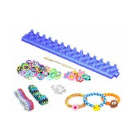 Loom Rubber Band Bracelet Knitting Kit - 600 Bands + 25 Clips, 6 Charms - DIY Loom Band Bracelet Making Kit