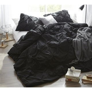 Black Pin Tuck Duvet Cover