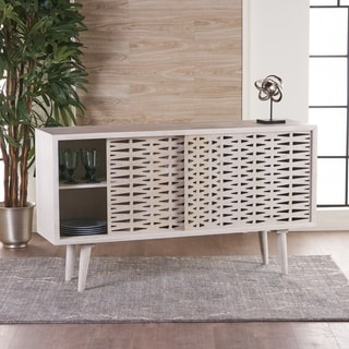Gibson White Wash Wood Sideboard Buffet Cabinet by Christopher Knight Home