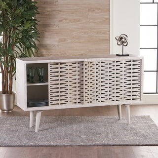 Gibson Wood Sideboard Buffet Cabinet with Sliding Door by Christopher Knight Home