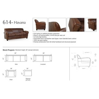Havana Brown Full Top Grain Leather Classical Traditional Chair