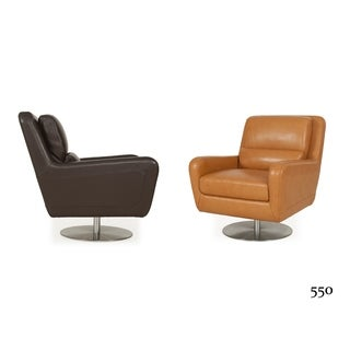 Swan Full Top-grain Leather Contemporary Chair