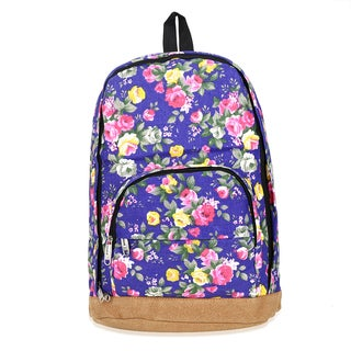 Hakbaho Jewelry Floral Canvas Backpack