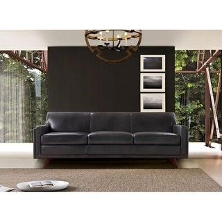 Milo Full leather Mid-Century Sofa