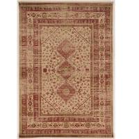Serape Collection Goravan Beige/Multi Rug (2' x 3')