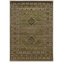 Serape Collection Goravan Green Rug (2' x 3')