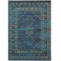 Serape Collection Goravan Turquoise Rug (2' x 3')