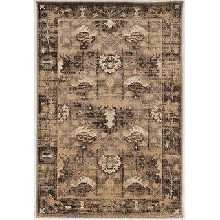 Serape Collection Hamadan Brown Rug (2' x 3')