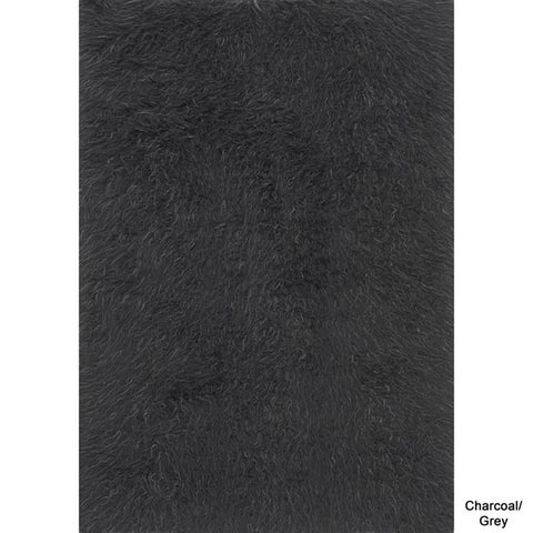 Faux Fur Sheepskin Textured Shag Rug (2' x 3') - 2' X 3'
