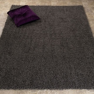 Lifestyle Shaggy Collection Contemporary Solid Shag Area Rug (5'3 x 7')
